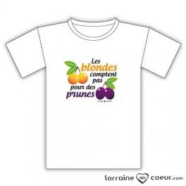 T-shirt - Les blondes comptent pas pour des prunes